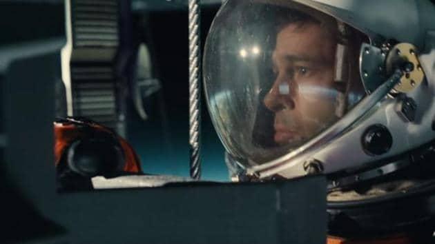 Brad Pitt in a still from Ad Astra.