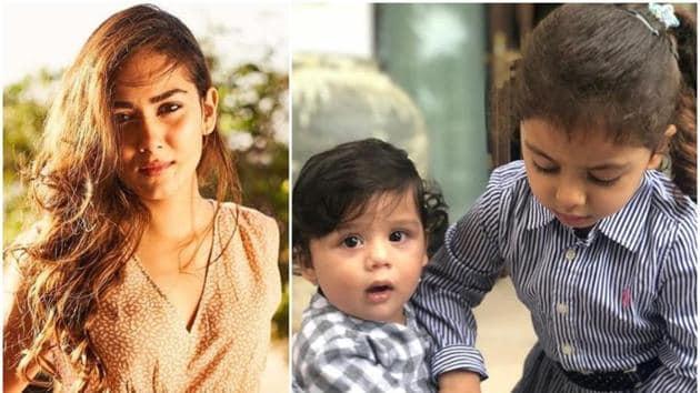 Mira Rajput shared new pictures of her children Misha and Zain.