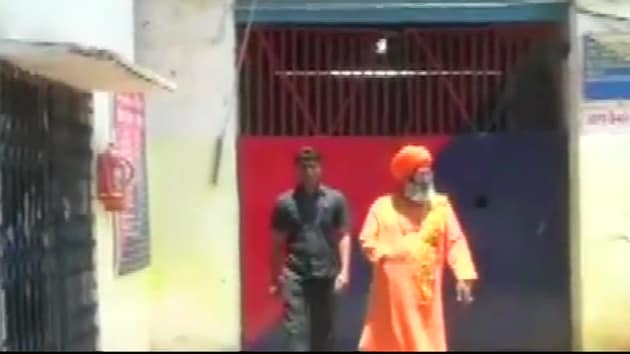 BJP parliamentarian Sakshi Maharaj on Wednesday visited party colleague and lawmaker Kuldeep Singh Sengar, who is lodged in jail over charges of rape and murder.(ANI Photo)