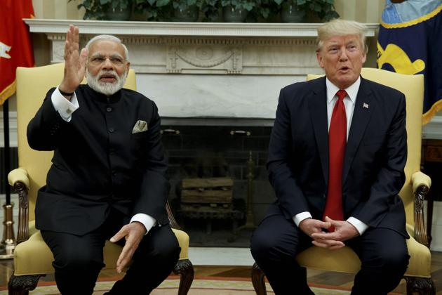 India mulled the retaliatory tariffs for more than a year after it proposed them in response to President Donald Trump's blanket levy of 25% and 10% on all steel and aluminium imports, including those from India, in March 2018(AP)
