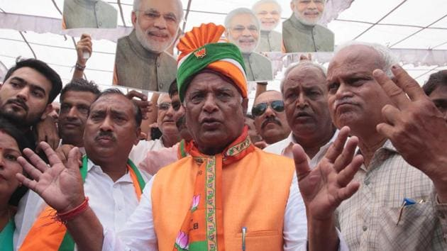 File photo of Rajasthan BJP chief Madanlal Saini.(Himanshu Vyas/ Hindustan Times)