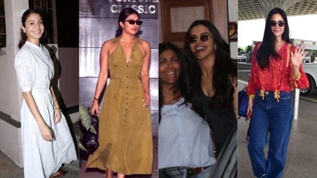 Anushka Sharma, Priyanka Chopra, Deepika Padukone and Katrina Kaif spotted in Mumbai.(Varinder Chawla)