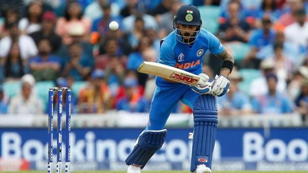 India captain Virat Kohli bats during a warm-up match between India and New Zealand, in London. This time around, you can even get official live updates via WhatsApp.(AFP)