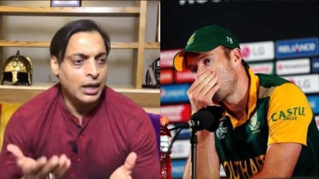 Shoaib Akhtar and AB de Villiers(Twitter Image)