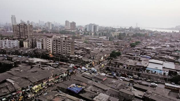 Aerial View of Dharavi in Mumbai. Image used for representational purpose only.(HT Photo by Kunal Patil)