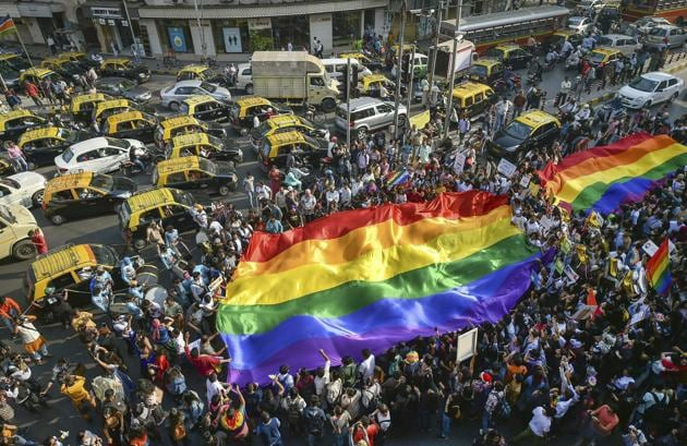 Members of the LGBTQ community participate in a pride parade in Mumbai, Saturday, Feb 2, 2019.(AP file photo)