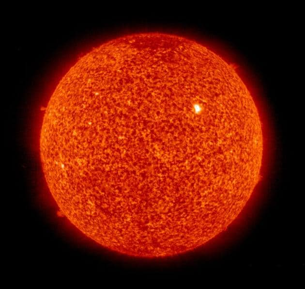 Solar fares are eruptions of high-energy radiation from the sun's surface and can cause radio and magnetic disturbances on the earth.(AP)