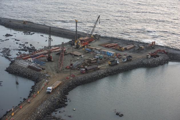 Coastal Road work(Pratik Chorge/HT Photo)
