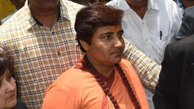 A special court here on Monday granted a day's exemption from appearance on health grounds to BJP MP Pragya Singh Thakur, accused of conspiring the September 2008 Malegaon bomb blast.(AFP)
