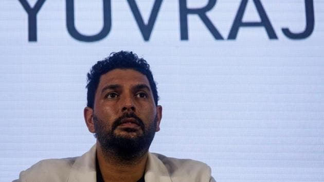 Indian cricket player Yuvraj Singh attends a news conference after announcing his retirement from international cricket in Mumbai, India, June 10, 2019(REUTERS)