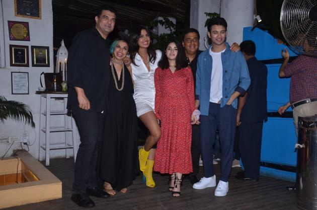 Priyanka Chopra at The Sky Is Pink wrap-up party.(Varinder Chawla)