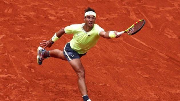 French Open - Roland Garros, Paris, France - June 9, 2019. Spain's Rafael Nadal in action during his final match against Austria's Dominic Thiem.(REUTERS)