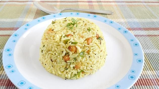 Indian food raw mango rice, which is a traditional and popular dish, is especially made on the festival day of Ugadi.(Getty Images/iStockphoto)