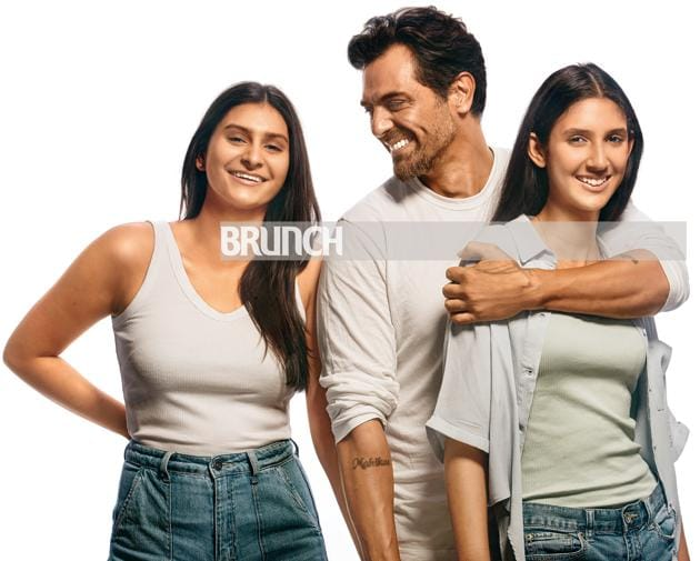 Arjun Rampal with his daughters (left) Mahikaa , 17-going-on-18 and (right) Myra who is a few days shy of her 14th birthday. For Arjun- Make-up: Kalpesh Desai; Hair: Hakim's Aalim. For Mahikaa and Myra: Make-up and hair: Cashmakeupartistry(Subi Samuel)