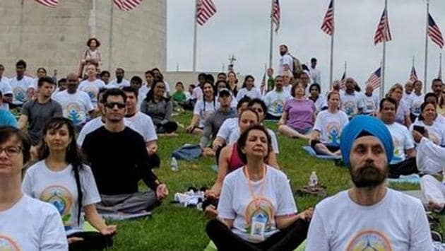 Each year, the day sees millions of people practicing common yoga protocol globally.(PTI PHOTO)