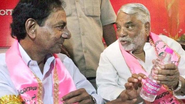 K Keshava Rao stated this , when asked about the Chief Minister K Chandrasekhar Rao-led outfit's policy towards the National Democratic Alliance government.)(PTI File Photo)