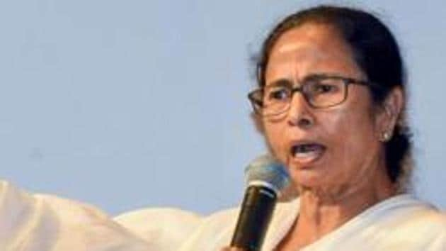 The furore over 'Jai Shri Ram' slogan started after Banerjee lost her cool when a group of men chanted 'Jai Shri Ram' as her convoy was passing through .(PTI Photo)