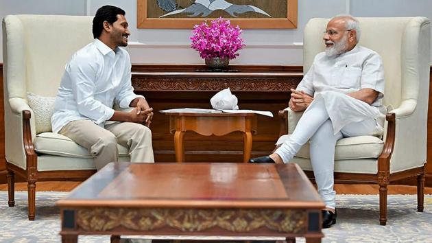 Jaganmohan Reddy tells HT about his plans for the state, his relationship with the Centre, and the upcoming Parliament session.(PTI file photo)