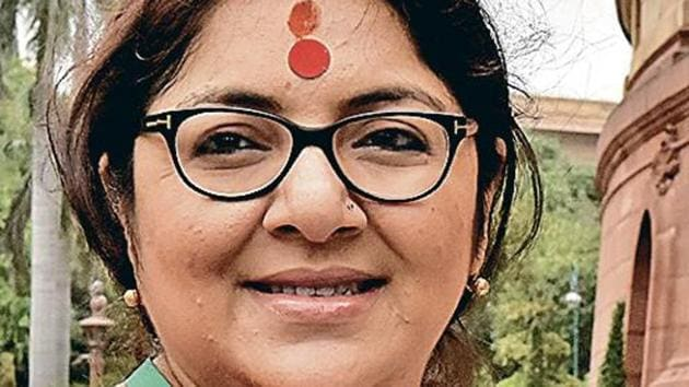 Before she was one of Bengal's rising political stars, Chatterjee was a familiar face with roles in some of the state's most-watched daily soaps and telefilms.(HT Photo)