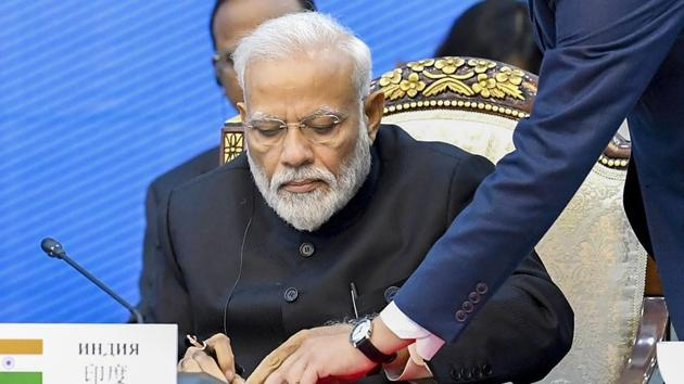 Modi also has also given inputs about the illustrations in the book.(PTI file photo)