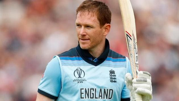 England's Eoin Morgan walks off after losing his wicket.(Action Images via Reuters)