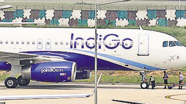 Three crew members on-board a Mumbai-Allahabad flight on Monday evening were injured when the aircraft encountered air turbulence.(HT/Gurminder Singh /Representative Image)