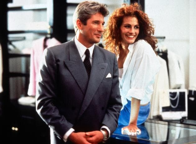 Julia Roberts and Richard Gere in a still from Pretty Woman.