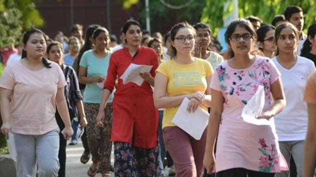 Students of the National Eligibility cum Entrance Test (NEET) with hearing disability, who needed certification from a board of doctors at Safdarjung Hospital to be allowed to sit for their counselling, was unable to get it even as the counselling process started on Wednesday. (Karun Sharma/Hindustan Times)