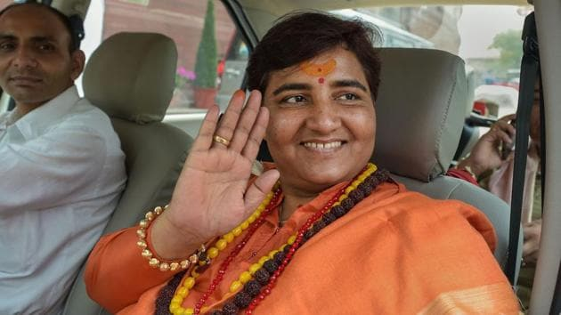 Pragya Thakur have been charged under various sections of the Unlawful Activities Prevention Act and the relevant sections of Indian Penal Code.(PTI File Photo)