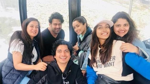 Team of Saaho, including Prabhas and Shraddha Kapoor, are in Austria for a shoot.(Nikita Menon/Instagram)