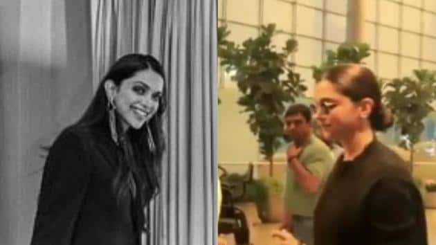 Deepika Padukone at Mumbai airport.