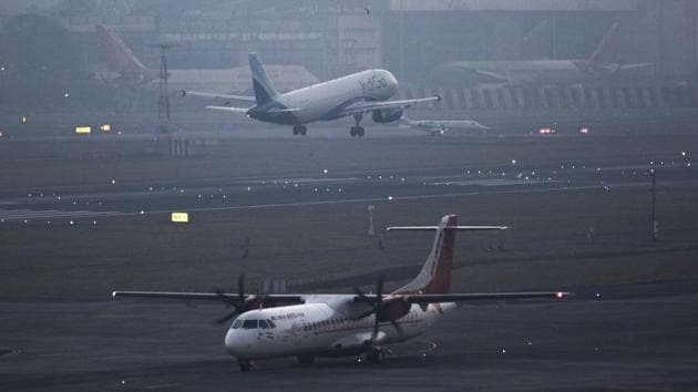 """Amid rising geopolitical tensions between the US and Iran, India's aviation regulator DGCA Saturday said Indian airlines have decided to avoid the """"affected part of the Iranian airspace"""" and reroute their flight """"suitably"""".(Pratik Chorge/HT Photo)"""