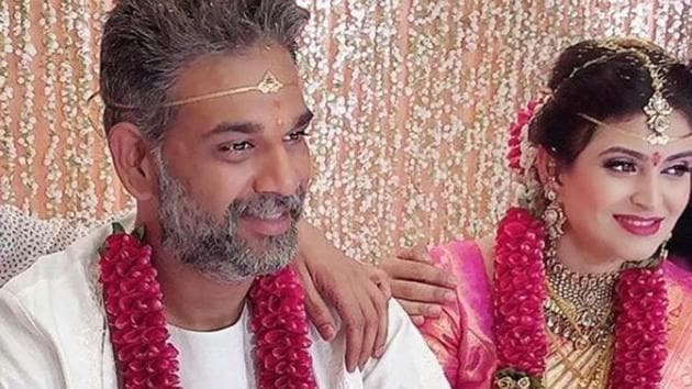 Allu Arjun's brother at his wedding with Neela Shah.(Instagram)