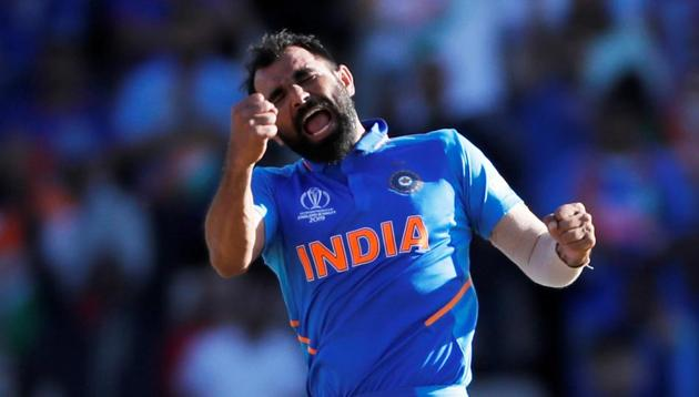 India v Afghanistan - The Ageas Bowl, Southampton, Britain - June 22, 2019 India's Mohammed Shami celebrates taking the wicket of Afghanistan's Aftab Alam(Action Images via Reuters)