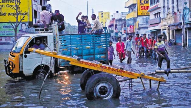 The unprecedented floods in the capital city of Tamil Nadu, Chennai, in 2015 brought home to all strata of society the risks of leaving climate change unaddressed(REUTERS)