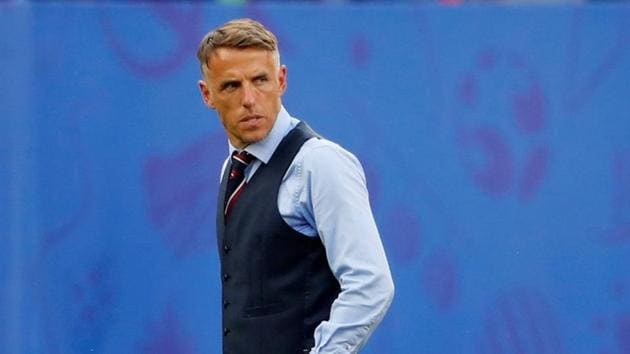 England manager Phil Neville reacts(REUTERS)
