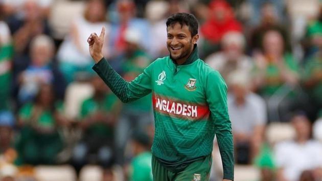 ICC Cricket World Cup - Bangladesh v Afghanistan - The Ageas Bowl, Southampton, Britain - June 24, 2019 Bangladesh's Shakib Al Hasan celebrates the wicket of Afghanistan's Najibullah Zadran(Action Images via Reuters)