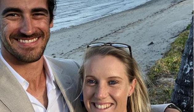 Mitchell Starc with his wife Alyssa Healy(Mitchell Starc instagram)