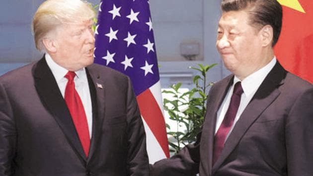President Trump has said he is happy with the current situation, claiming billions of dollars are pouring into the US treasury because of the higher tariffs on imports from China.(AP)