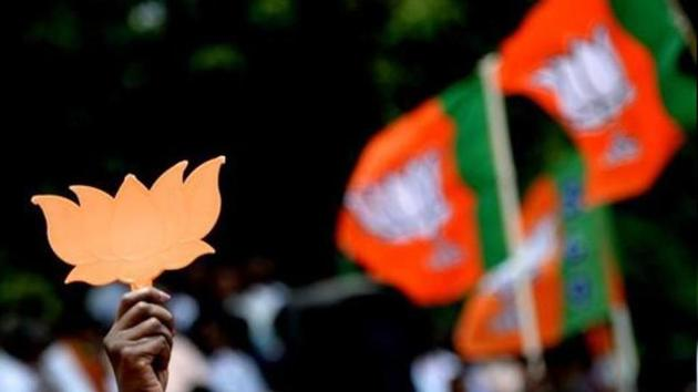 Fifteen Congress members of MADC signed the decision to merge with the BJP, while five others gave consent over the phone. The Congress members include three who have been nominated.(AFP)