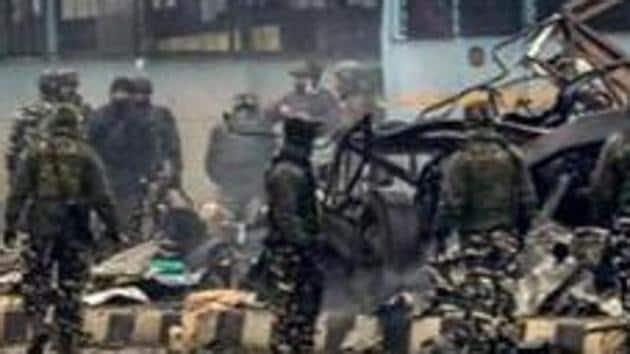 Over 40 Central Reserve Police Force (CRPF) personnel lost their lives when a suicide bomber, affiliated to the Pakistan-based Jaish-e-Mohammed, attacked their convoy in Jammu and Kashmir's Pulwama on February 14(PTI)