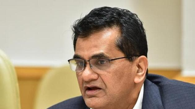 Amitabh Kant was on Wednesday given a two-year extension as Chief Executive Officer of Niti Aayog. (PTI Photo)