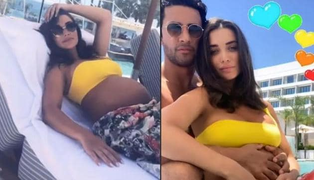 Amy Jackson with boyfriend George Panayiotou during their Cyrus vacation.(instagram)