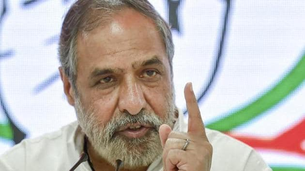 """Congress leader Anand Sharma, while speaking during the motion of thanks to the President's address, asked, """"If the foundation was laid in 2014, then which foundation was laid on August 15, 1947, when the Father of the Nation was there, Jawaharlal Nehru, Sardar Vallabhbhai Patel, Maulana Azad, BR Ambedkar were alive?""""(PTI)"""