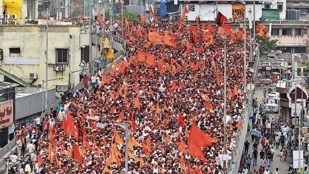 Marathas make up around 32% of the state's population and are politically dominant, with 11 of the state's 18 chief ministers coming from the community.(HT Photo)