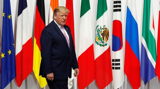"""US President Donald Trump, who has ratcheted up pressure on the Middle Eastern country, said there was """"absolutely no time pressure"""" on the issue.(REUTERS)"""
