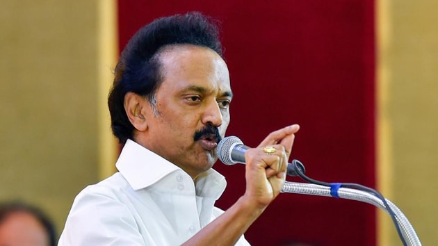 """""""Public distribution is a fundamental right of state governments. The Union food minister does not understand the repercussions that would follow if such a right is infringed upon,"""" DMK president M K Stalin said in a statement.(HT Photo)"""