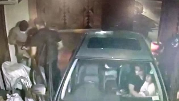 A family was robbed by three armed men in Delhi's Model Town area as soon as they reached home (ANI photo)