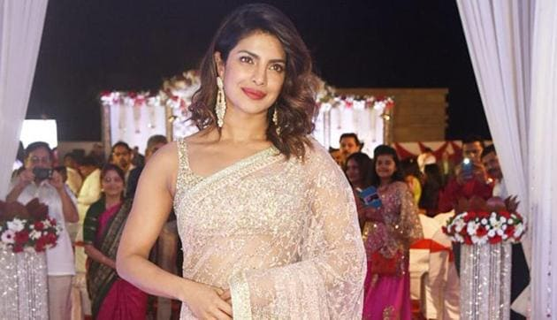 File picture: Priyanka Chopra wore a saree for Joe Jonas-Sophie Turner's wedding in France.