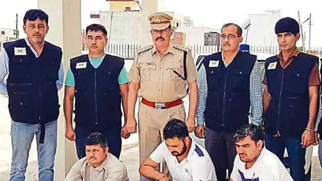 The Special Task Force (STF) of the Haryana Police arrested three more gang members of the Pawan Boria gang. (HT Photo)